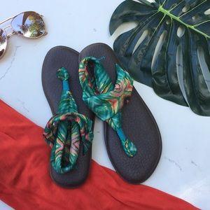 Sanuk || 'Yoga Sling 2 Print' Tye Dye Sandal